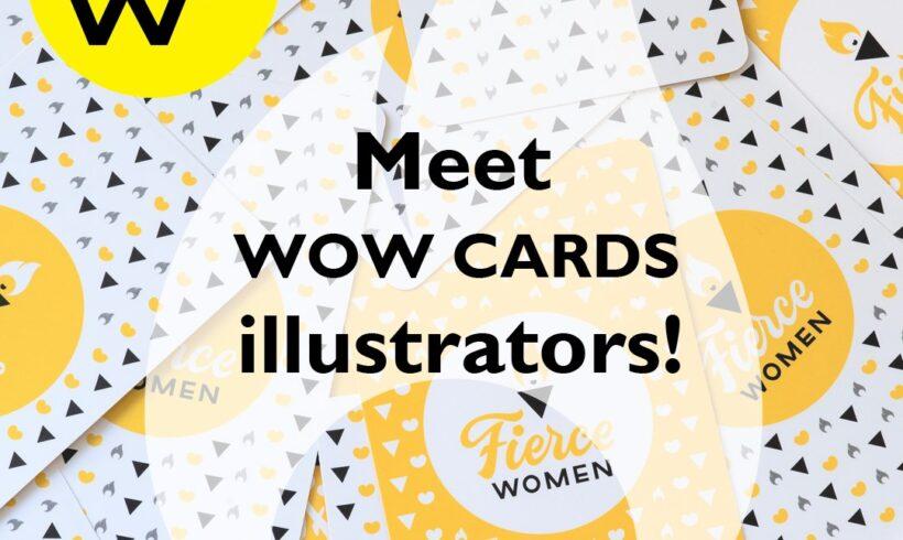 Fierce Women WoW cards illustrators